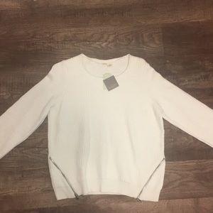 White NWT Anthropologie Crew Neck Sweater